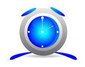 Blue alarm clock — Stock Vector