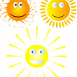 Set of smiling suns — Stock Vector #6025607