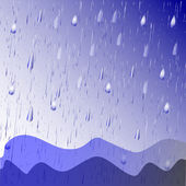Rain - vector — Stock Vector