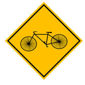 Bicyle sign illustration — Stock Vector