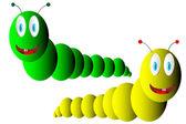 Two caterpillars — Stock Vector