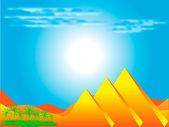 Egipskich piramid — Wektor stockowy
