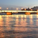 Night view of the St Petersburg — Stock Photo