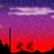 Royalty-Free Stock Vector Image: Night in Egypt, panorama