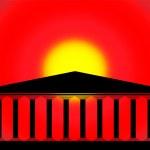 Greek temple — Stock Vector