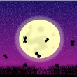 Butterflies at moon night — Stock Vector