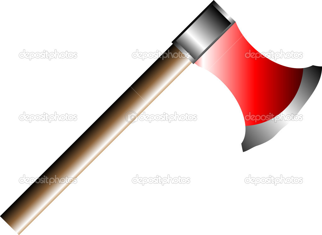Axe isolated on white background - vector — Stock Vector #6356988