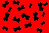 Motýli silueta — Stock vektor