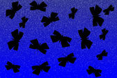 Butterflies silhouette at night — Stock Vector