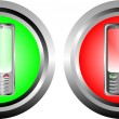 Two buttons with phone — Imagen vectorial