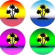 Set of the beautiful tropical islands — Stock Vector
