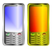 2 telefony komórkowe na białym tle — Wektor stockowy