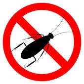 Forbidding vector sign - stop cockroach — Stock Vector