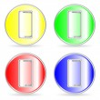 Phone icons, buttons — Stock Vector #6452595