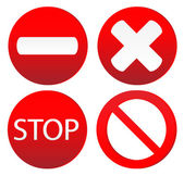 Set of variants a stop sign — Stok Vektör