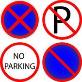 Variants a No parking - road sign — Cтоковый вектор