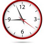 klassische Büro-Uhr — Stockvektor