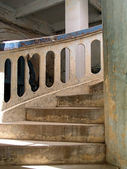 Old curved staircase — Stock Photo