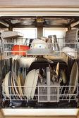 Open dishwasher — Stock Photo