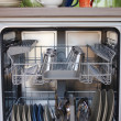 Open dishwasher - Stock Photo