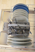 Dishes in the dishwasher — Stock Photo