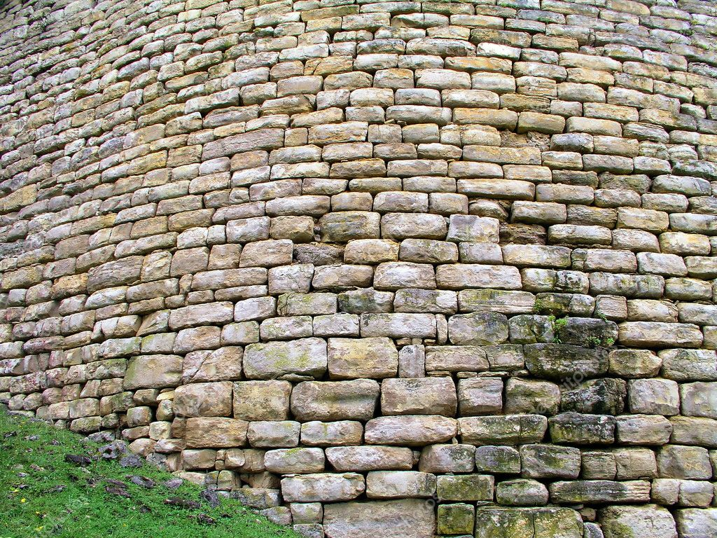 Old curved wall made of stone — Stock Photo #5620905