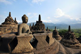 Buddha statue in Borobudur temple — Stock Photo