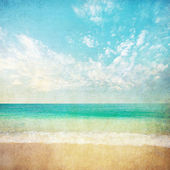 Summer beach background — Stock Photo