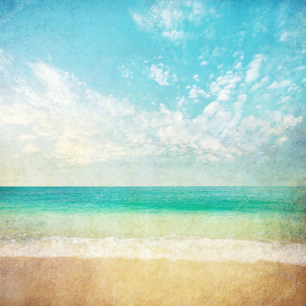 Summer beach background — Stock Photo © shirophoto #5443832