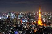 Tokyo tower at night — Stock Photo