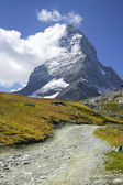 Trail to Matterhorn, Zermatt — Stock Photo