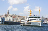 Bosphorus and Galata Tower in historic center of Istanbul — Stock Photo