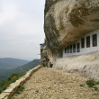 Cave orthodox monastery in Crimea mountains — Stock Photo