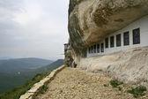 Jaskinia klasztor prawosławny góry krymu — Zdjęcie stockowe