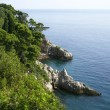Rocky shores of the Adriatic Sea - Stock Photo