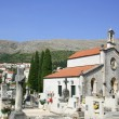 Catholic Church and the old cemetery in Dubrovnik - Stock Photo