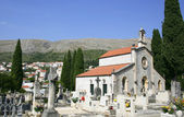 Catholic Church and the old cemetery in Dubrovnik — Stock Photo