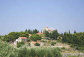 Old village on the island of Brac — Stock Photo