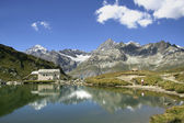 Touristic refuge in alps — Stock Photo