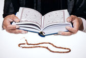 Student studying Islam — Stock Photo