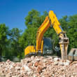 Bulldozer at work — Stock Photo