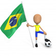 Stock Photo: Football National Team: Brazil