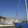 Little cruise boats and yachts in port, Yalta, Crimea, Ukraine — Stock Photo