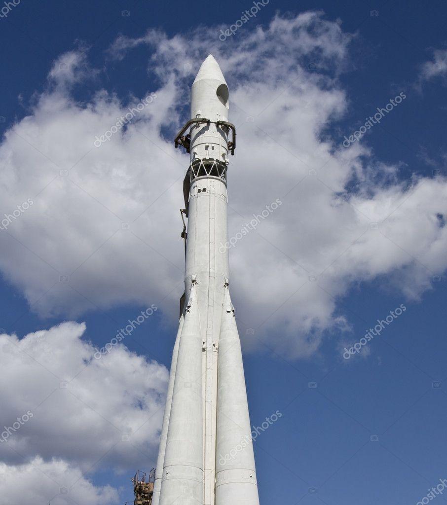 Space rocket on sky — Stock Photo © Afonskaya #5577843