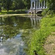 Bridge in park in Tsarskoye selo, Russia - Foto Stock