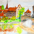 Huremberg, Germany — Stock Photo