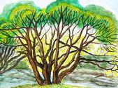 Tree, painting — Stock Photo