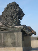 Statue of lion, Moscow — Stock Photo