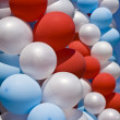 Stock Photo: White, red and blue air balloons