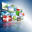 Television and internet production technology concept — Stock Photo